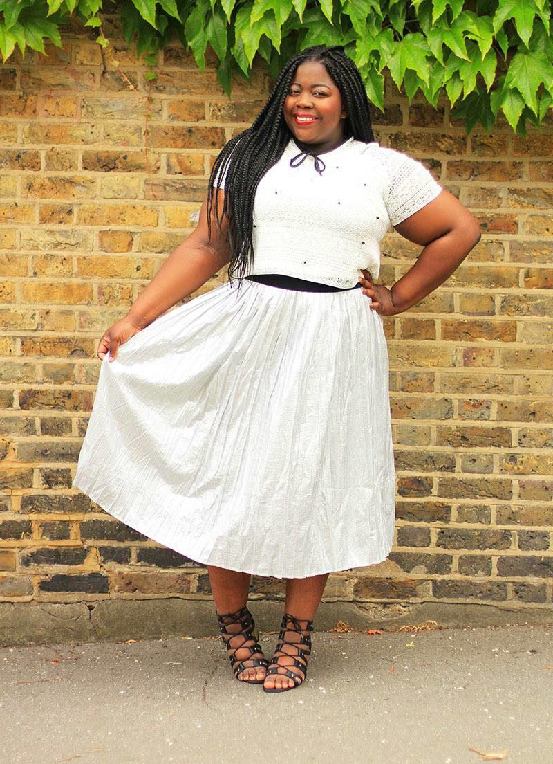 Elvi Metallic Skirt